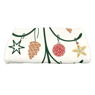 Yerang Pinecone Tree Bath Towel Color: Cream