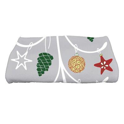 Coastal Christmas Pinecone Tree Bath Towel Color: Gray