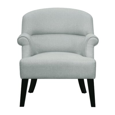 Vennie Oak Upholstered Roll Armchair
