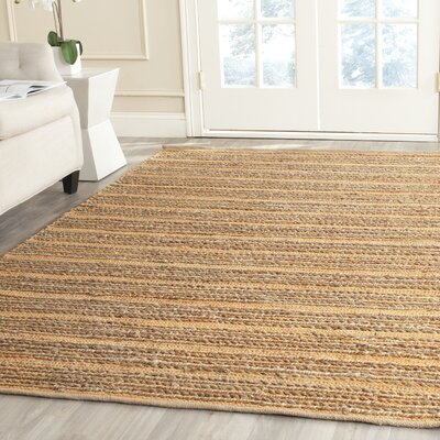 Abia Hand-Woven Orange Area Rug Rug Size: Rectangle 5 x 8