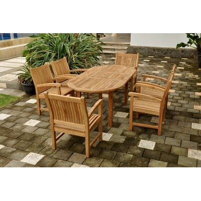Farnam 7 Piece Oval Wood Dining Set