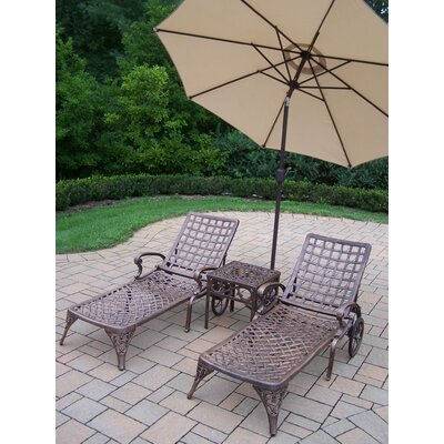 Thelma 5 Piece Lounge Seating Group Set Umbrella Fabric: Beige
