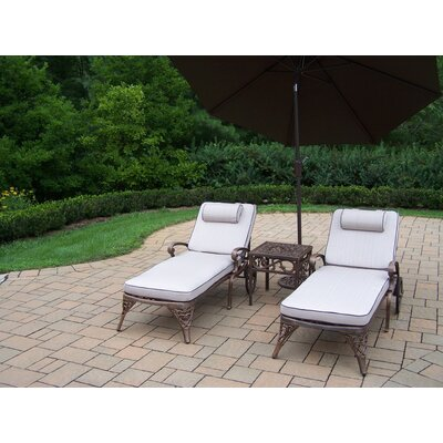 Thelma 5 Piece Lounge Seating Group Set Umbrella Fabric: Brown