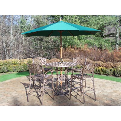 Thelma 5 Piece Bar Set with Umbrella
