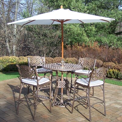 Thelma 5 Piece Metal Bar Set with Cushions