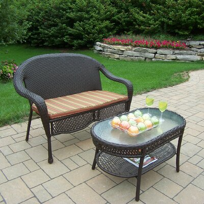 Claremont 2 Piece Seating Group with Cushion Cushion Color: Green