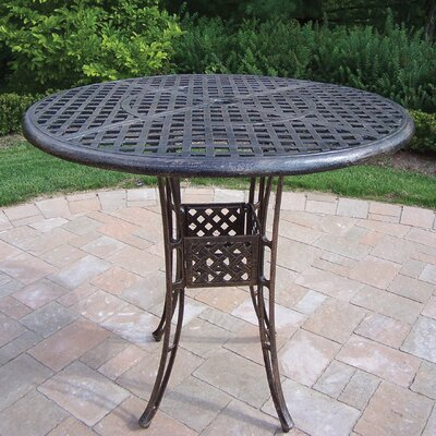 Thelma Cast Aluminum 42 Inch Bar Table Finish: Antique Bronze