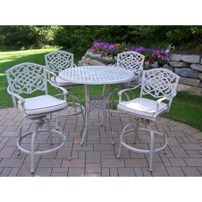 Thelma 5 Piece Coastal Bar Set with Cushions Finish: Beach Sand