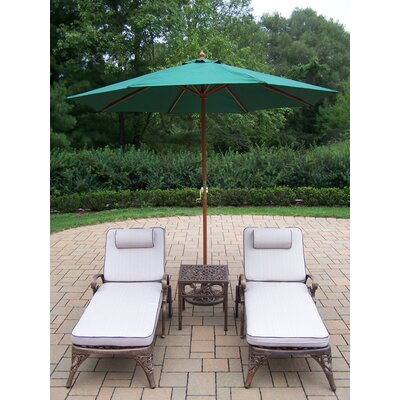 Thelma 4 Piece Chaise Lounge Set with Cushions