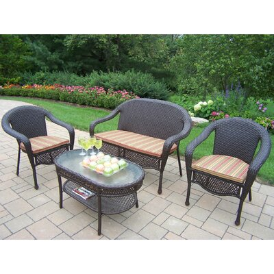 Kingsmill 4 Piece Seating Group with Cushions