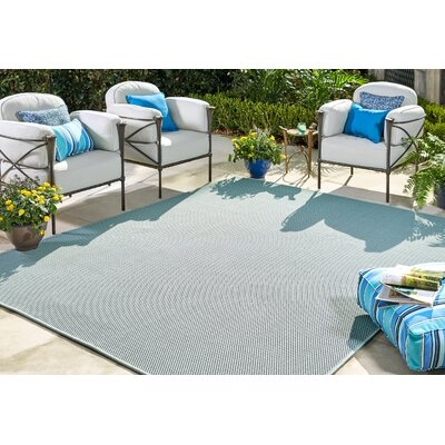 Sullivan Aqua Indoor/Outdoor Area Rug Rug Size: 9 x 12