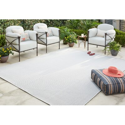 Sullivan Gray Indoor/Outdoor Area Rug Rug Size: 8 x 10