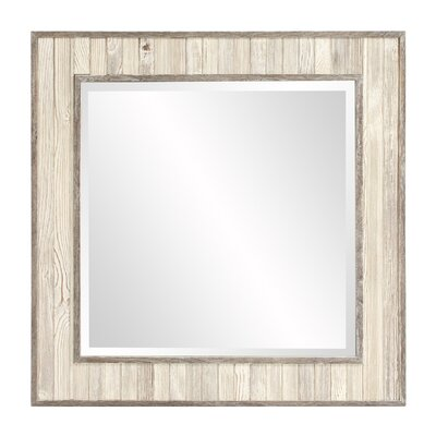 Wood Square Wall Mirror