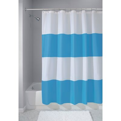 Zeno Shower Curtain Color: Azure