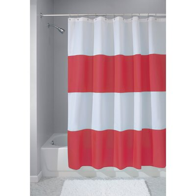 Zeno Shower Curtain Color: Red