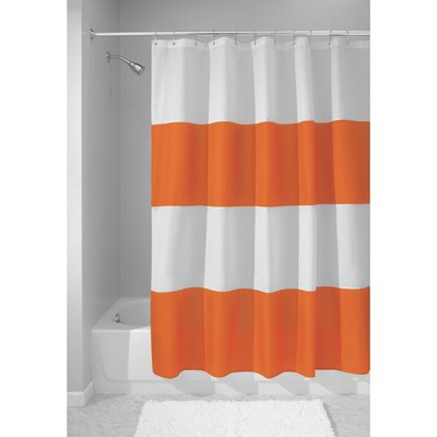Zeno Shower Curtain Color: Orange