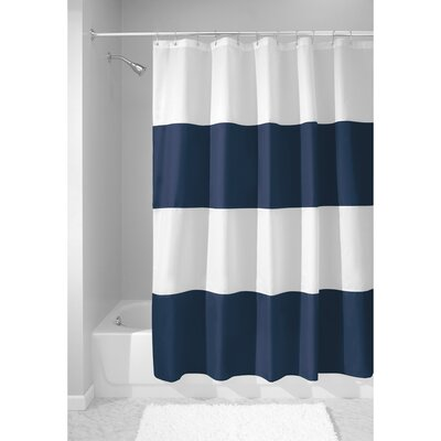Zeno Shower Curtain Color: Navy