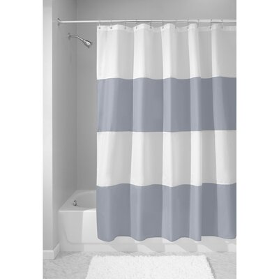 Zeno Shower Curtain Color: Slate Blue