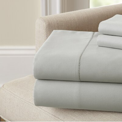 Holmes 400 Thread Count Cotton Sheet Set Size: Queen, Color: Silver