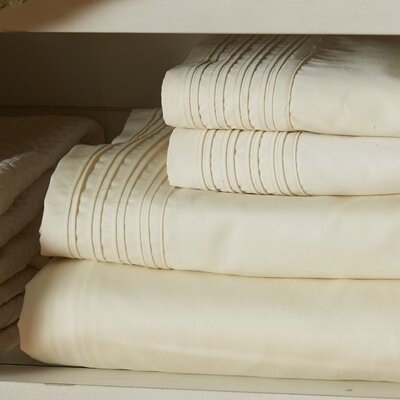 Holmes 1000 Thread Count 4 Piece Sheet Set Size: California King, Color: Ivory