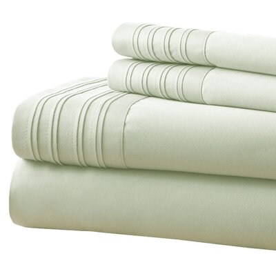 Holmes 1000 Thread Count 4 Piece Sheet Set Size: King, Color: Jade