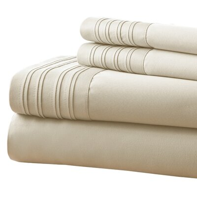 Holmes 1000 Thread Count 4 Piece Sheet Set Size: Full, Color: Taupe