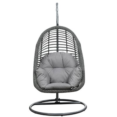 Moquin Hanging Basket Spuncrylic Swing Chair with Stand