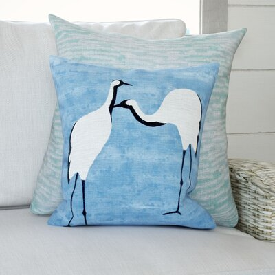 Boubacar Stilts Animal Print Throw Pillow Color: Blue, Size: 20 H x 20 W