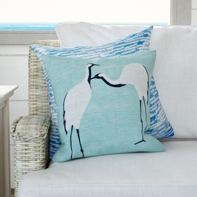 Boubacar Stilts Animal Print Throw Pillow Size: 26 H x 26 W, Color: Aqua