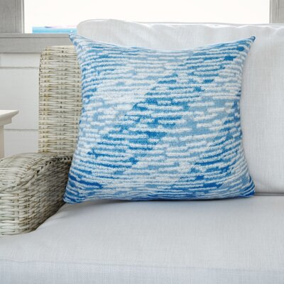 Cedarville Marled Knit Stripe Geometric Print Throw Pillow Color: Blue, Size: 18 H x 18 W