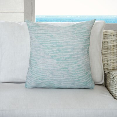 Cedarville Marled Knit Stripe Geometric Print Throw Pillow Size: 18 H x 18 W, Color: Aqua