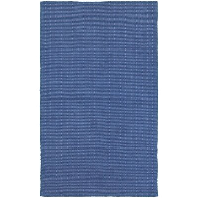Rudel Hand-Woven Indigo Indoor Area Rug Rug Size: Rectangle 5 x 7