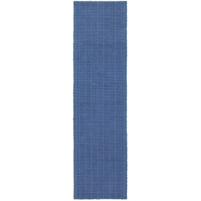 Golden Beach Hand-Woven Indigo Indoor Area Rug Rug Size: Runner 2 x 8