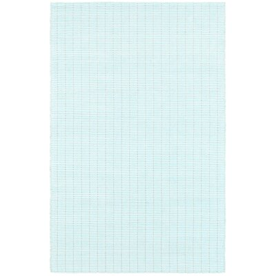 Rudel Hand Woven Cotton Spa Blue Area Rug Rug Size: Rectangle 5 x 7