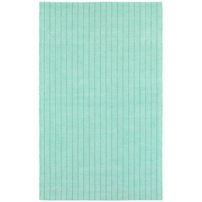 Rudel Hand Woven Cotton Mint Green Area Rug Rug Size: Rectangle 6 x 9