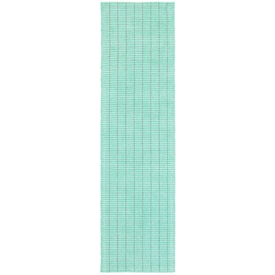 Rudel Hand Woven Cotton Mint Green Area Rug Rug Size: Runner 2 x 8