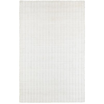 Rudel White Indoor Area Rug Rug Size: 6 x 9