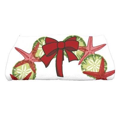 Gwendolen SS Wreath Bath Towel Color: Red