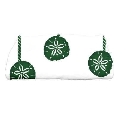 Coastal Christmas Sanddollar Ornaments Bath Towel Color: Green