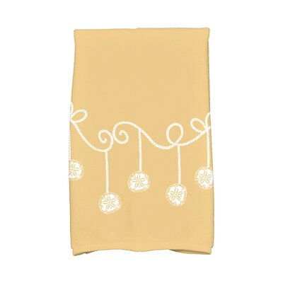 Gertrude Sanddollar Ornaments Hand Towel Color: Gold