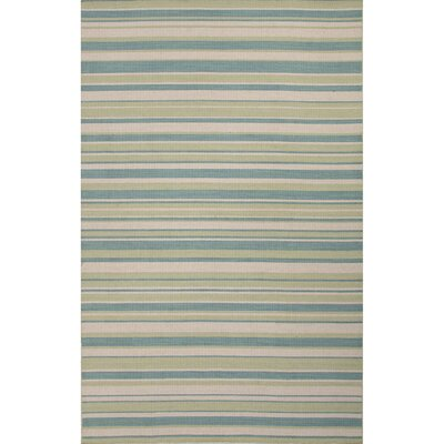 Mila Blue & Green Stripe Area Rug Rug Size: 4 x 6