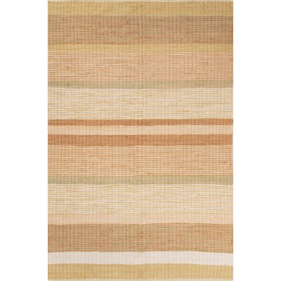 Claire Hand-Loomed Beige/Orange Area Rug Rug Size: 5 x 8