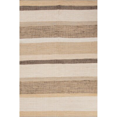 Melounta Hand-Loomed Beige/Ivory Area Rug Rug Size: Rectangle 5 x 8