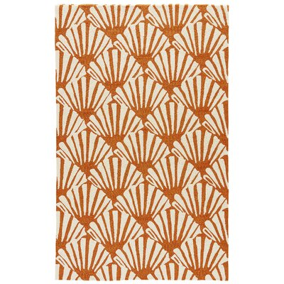 Leda�Burnt Orange/Cream Indoor/Outdoor Area Rug Rug Size: Rectangle 76 x 96