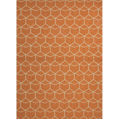 Wells Orange Indoor/Outdoor Area Rug Rug Size: 76 x 96