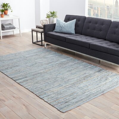 Cummins Cotton Solids/Handloom Blue Area Rug Rug Size: Rectangle 8 x 10