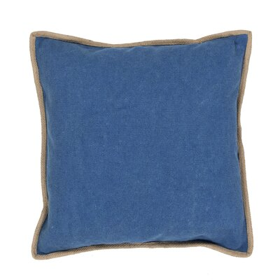 Aquila Solid Cotton Throw Pillow Color: Blue