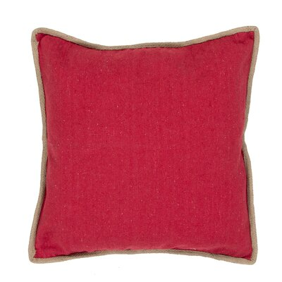 Aquila Solid Cotton Throw Pillow Color: Red