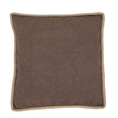 Aquila Solid Cotton Throw Pillow Color: Brown