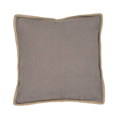 Daine Solid Cotton Throw Pillow Color: Gray